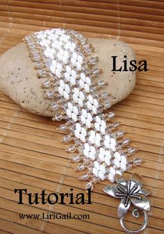 Lisa Superduo Beadwork Bracelet PDF Tutorial by Lirigal on Etsy