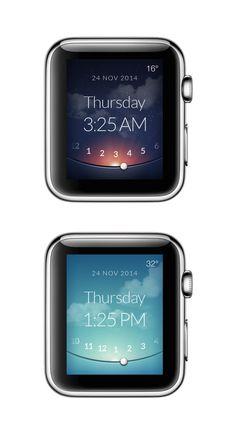 Apple watch clock by Martin Eriksson #apple #watch #design #ux #ui