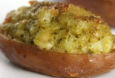 Click Pic for  50 St Patricks Day Food Ideas - Twice-baked Potatoes with Pesto | St Patricks Day Recipes
