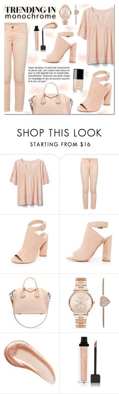 """""""One Color, Head to Toe"""" by drinouchou ❤ liked on Polyvore featuring Gap, Kendall + Kylie, Givenchy, Michael Kors, Charlotte Tilbury, Jouer and monochrome"""