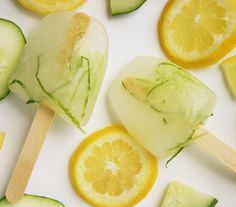 Cucumber Lemonade Popsicles! The perfect sweet summer treat for Phase 2 of the #FastMetabolismDiet -- get the recipe from our newsletter.