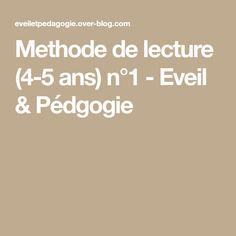 Methode de lecture (4-5 ans) n°1 - Eveil & Pédgogie