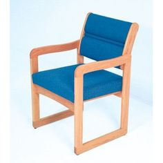 Wooden Mallet Valley Guest Chair Wood Finish: Light Oak, Fabric: Arch Slate, Arms: Included