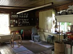 IMG_5251 | Flickr - Photo Sharing! Finland Country, Nordic Interior, Scandinavian Interiors, Cottage Design, Old Houses, Rustic, Living Room, Bed, Outdoor Decor