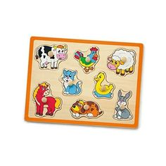 Viga Farm Animals Wooden Pull-Out Peg Puzzle * You can find more details by visiting the image link.