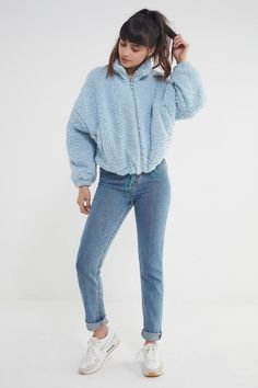 best sneakers 2972a 072a3 UO Willow Fuzzy Drawstring Jacket   Urban Outfitters Urban Outfitters, Jean  Jacka Outfits, College