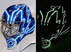 #BishPlease! That rocks! > Ben Bishop has glow in the dark TRON goalie mask | #TBLightning #NHL
