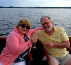 Gary & Bev celebrating another anniversary on the same boat they got married on, Sail Selina II ♥