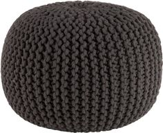 knitted graphite pouf  | CB2; A.WL+: December 15, 2011, ($89.95 & diff. pic) [orig.: www.cb2.com/pillows/rugs-and-pillows/knitted-grey-pouf/f6099]  [www.cb2.com/knitted-graphite-pouf/f7379]
