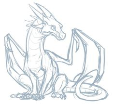 100 idées de dessins dragon : Pour apprendre à dessiner un dragon Animal Sketches, Art Drawings Sketches, Animal Drawings, Doodle Drawings, Dragon Anatomy, Dragon Poses, Fire Drawing, Drawing Art, Dragon Sketch