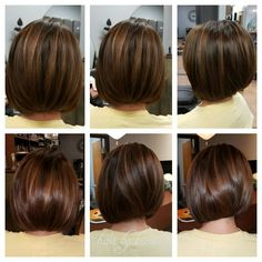 Mocha, bronze tones on this beautiful bob