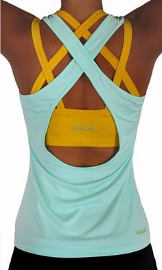 The Mint Blue Scoop top with our Yellow Endurance Bra!- The Mint Blue Scoop top with our Yellow Endurance Bra! The Mint Blue Scoop top with our Yellow Endurance Bra! Athletic Outfits, Athletic Wear, Athletic Tank Tops, Athletic Clothes, Workout Attire, Workout Wear, Workout Outfits, Workout Style, Workout Tanks