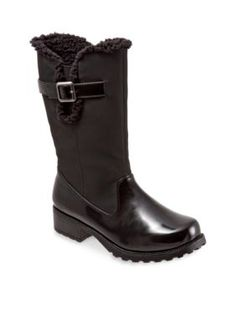 Trotters Black Patent Blizzard III Weather Boot