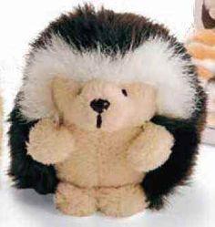 bbd3dea6258 Gund 12044 Ganley Hedgehog Dark Brown with Organza Pull String Bag