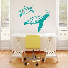 Swimming Turtles Wall Art Decal