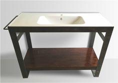 Denver Colorado industrial METAL bathroom vanity washstand sink stand modern…