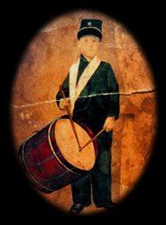 Edward Black, drummer boy for the 21st Indiana Volunteers. At 8 years old, it is believed that he was the youngest Union army soldier.