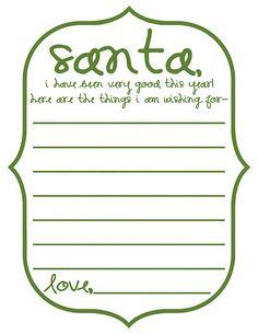 Dear Santa Printables