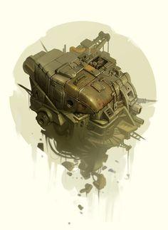 """""""Waste aircraft v2"""" concept..., Tadas Adomavicius on ArtStation at https://www.artstation.com/artwork/waste-aircraft-v2-concept"""