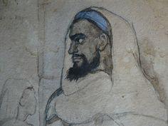 CHASSERIAU Théodore,1846 - Arabe barbu et autres Figures - drawing - Détail 06