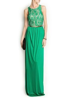 MANGO - CLOTHING - Dresses - Maxis - LACE GOWN