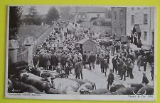 TAUNTS Postcard POSTED 1909 CATLLE MARKET FARINGDON OXFORDSHIRE