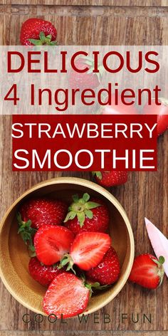 Healthy smoothie recipes 670473463257320549 - The strawberry smoothie recipe is a refreshing drink which will make you feel energized in the scorching heat of summer. Just 4 ingredients to make this perfect sweet strawberry smoothie. Detox Juice Recipes, Easy Smoothie Recipes, Easy Smoothies, Fruit Smoothies, Healthy Recipes, Eat Healthy, Jugo Natural, Strawberry Banana Smoothie, Starbucks Strawberry