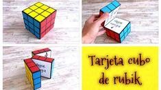 DIY // Haz una tarjeta con forma de cubo de RUBIK (Regalo para novio o m...