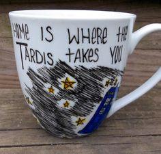 Doctor Who mug. Home is where the TARDIS takes you