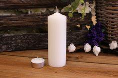Κεριά Κυλινδρικά Λευκά Φ5x15εκ Pillar Candles, Taper Candles
