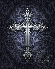 Sacred Symbols - Pagan Art, Goddess Art, Christian Art, New Age Art & Wiccan Art by Brigid Ashwood Cross Love, Sign Of The Cross, Cross Tattoo Designs, Cross Designs, Cross Tattoos, 1 Tattoo, Body Art Tattoos, Tatoo Books, Cross Wallpaper