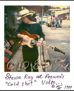 """On October former Texas Governor Ann Richards proclaimed October """"Stevie Ray Vaughan Day"""" in the State Of Texas in honor of Stevie's birth. And while he's no longer with us, we'll always have his music and these rare photos of him to remember SRV by. Steve Ray Vaughan, Jimmie Vaughan, Keith Richards Guitars, Best Guitar Players, Extraordinary People, Stevie Ray, Blues Rock, Music Photo, Guitars"""