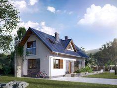 Projekt Dalia (91,18 m2) to projekt na wąską działkę z możliwością budowy po granicy. Pełna prezentacja projektu dostępna jest na stronie: http://domywstylu.pl/projekt-domu-dalia.php. #projekty #domy #projekty gotowe #projekty domów #domywstylu #mtmstyl #style #design #home #houses #architektura
