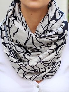 Blanket Scarf tartan, Black and White Floral scarf, oversized scarf, women scarf blanket, scarf, style scarf, fall scarf, christmas scarf