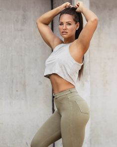 High-Waisted Chinos Girls Jeans, Crossfit, Fitness, Curves, Tights, Abs, Sporty, Beautiful, Style