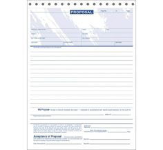 Free Printable Proposal Sheet  Proposal  Acceptance  Roy Orona
