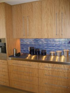 High Rise Kitchen with a touch of blue! (Cultivate.com) #cultivateit