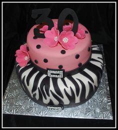 30th Birthday Zebra Pink — Cake Photos