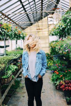 denim jacket + greenhouse