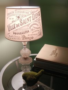 French Chic Lamp Put pattern on inside of lamp. Turn on light and trace with sharpie pen. Cool.