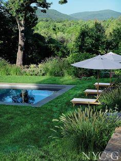 gartenplan mit pool, familiengarten mit natürlichem flair #gartenplan #gartenplanung, Design ideen