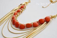 Coral & gold neckalce. #StyledbyToriSpelling