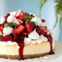 Your search for the perfect cheesecake ends here! Incomparably creamy with just the right amount of tang, sweetness and density.