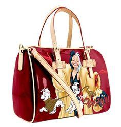 BWR Disney 101 Dalmatians Cruella Handbag with Handles and Shoulder Strap Disney Handbags, Disney Purse, Disney Couture, My Bags, Purses And Bags, 101 Dalmatians Cruella, Disney Bound Outfits, Disney Merchandise, Cute Bags
