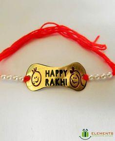 Rakhi Bracelet, Silver Rakhi, Handmade Rakhi Designs, Happy Rakhi, Bow Back Top, Rakhi Making, Festival Quotes, Brother And Sister Love, Indian Crafts