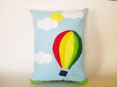 Decorative Kid's Room/Baby Nursery Hot Air Balloon Pillow