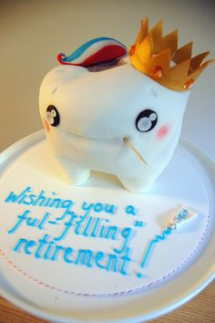 """Tooth cake to wish a retiring dentist much ful""""fill""""ment :) Retirement Party Themes, Retirement Decorations, Retirement Cakes, Retirement Ideas, Dentist Cake, Gifts For Dentist, Tooth Cake, Cupcake Cakes, Cup Cakes"""