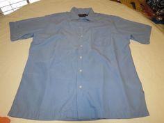 Polo by Ralph Lauren Mens L Caldwell Silk ctn short sleeve button up Shirt EUC @ #PolobyRalphLauren #ButtonFront
