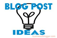How to come up with new blog post ideas