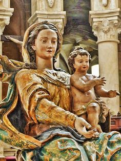 Virgin Mary altar wooden